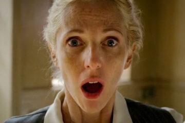 9 Mois Ferme AKA 9 Month Stretch 2013 Movie Scene Sandrine Kiberlain as Ariane Felder finding out that she's pregnant